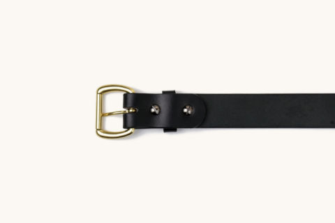 belt black brass down