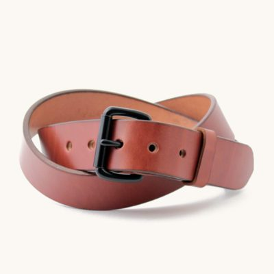 Leather belt for men English Bridle