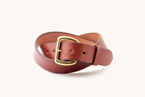 brown belt  with solid brass buckle