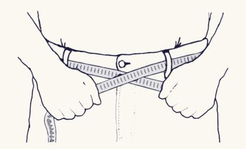 измерение сантиметровой лентой