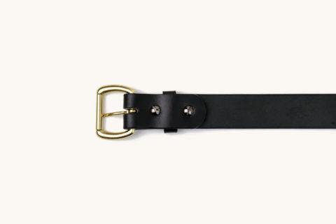 belt black brass down