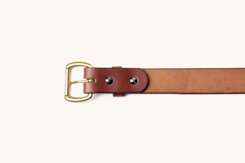 belt brown brass down