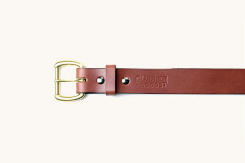 belt brown solid brass buckle top